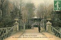 PARIS Bois de Vincennes Lac Daumesnil Entrée du Pont et Kiosque des Concerts