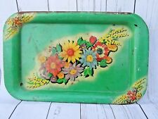VINTAGE OLD NATURE FLOWERS  PHOTO LITHO PRINT  TIN TRAY INDIA