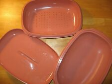 Vintage Tupperware Microwave Rice Cooker Steamer Pink #1273 Pre-Owned