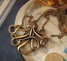 Pirates of the Caribbean Octopus Man Retro Long Necklace Vintage Jewelry Pirate