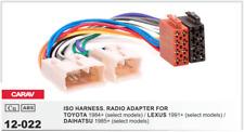CARAV 12-022 Conector ISO OEM Radio Adaptador TOYOTA 1984+ LEXUS 1991+ DAIHATSU