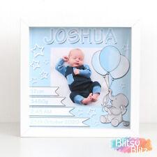 Personalised New Baby Gift / Christening Gift / Baby Boy Birth Print Frame Gift