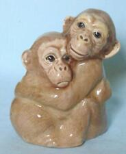 PAIR OF CHIMPS BY SZEILER STUDIO POTTERY STAFFORDSHIRE