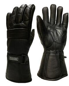 Motorcycle leather Premium gloves Winter Biker Sheep  Gauntlet Thinsulate
