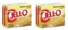 Jell-O Banana Cream Instant Pudding Dessert Mix 2 Box Pack