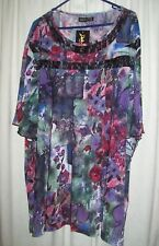 HODGSON Dale and Waters plus Size 36 sheer printed top - New with tags