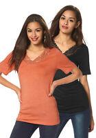 Vero Moda Longshirt (Packung, 2er-Pack), schwarz/hummer. Gr. S. NEU!!! SALE%%%