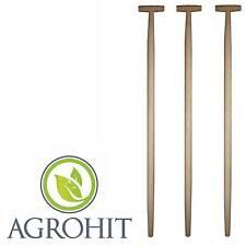 3 x Spatenstiel Grabegabel Spatengabel Stiel Holzstiel T Griff 100cm Set Ø 38