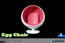 "ZYTOYS 1:6 Accessories for 12"" Figures Egg Chair in White ZY-15-29A"