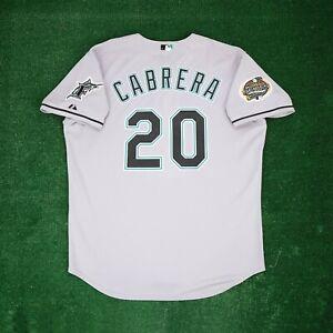 Miguel Cabrera Florida Marlins 2003 Authentic World Series Grey Men's Jersey