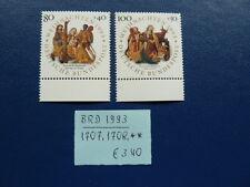 BRD 1993, Weihnachten, Michel 1707, 1708, **