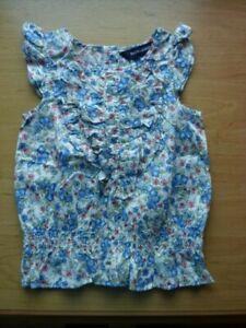 Girls Ralph Lauren Floral Print Sleeveless Summer Top Age 3t (2-3yrs)
