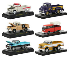 AUTO TRUCKS 6 PC SET, RELEASE 54 IN ACRYLIC CASES 1/64 CARS M2 MACHINES 32500-54
