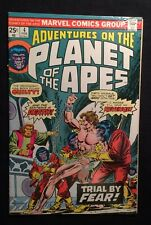 """Marvel PLANET of the APES Vol.1 #4 Feb./1976 """"TRIAL!"""" Bronze Age 6.5 FN+"""
