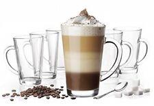 6 Mugs en verre, Tasses Cappuccino, Café Latte