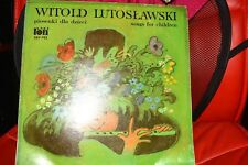 PIOSENKI DLA DZIECI W. LUTOSŁAWSKI - VINYL RECORD POLISH MUSIC SONGS, VERITON __