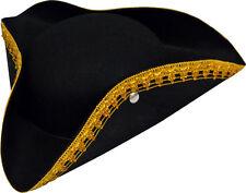 Chapeau TRICORNE Noir Déguisement Enfant Garçon Costume Pirate Marquis