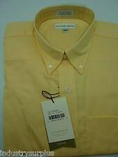 NEW Cutter & Buck Men's Yellow Button Down Wrinkle Resistant Dress LS Shirt M