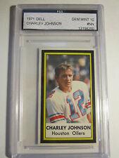 1971 CHARLEY JOHNSON DELL CARD  FGS GRADED GEM MINT 10 FOOTBALL CARD  LOT AA 20