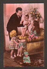 POUPEE BAIGNEUR avec FILLETTE & BEBE vers 1930