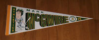 1989 Mark McGwire Oakland A's pennant Athletics Bash Brothers Era 1980's