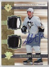 2006-07 Ultimate JORDAN STAAL Auto Dual Patch RC Rookie #d 7/10