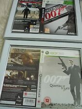 007 quantum of solace & blood stone xbox 360 sleeves Wall mounted Framed