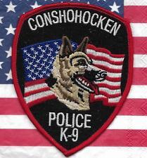 K-9 DHF CONSHOHOCKEN / PENNA. Police Patch Polizei Abzeichen Dienst-Hundeführer