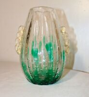 vintage hand blown art glass Italian Murano Venetian cactus bubble vase Italy