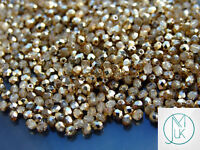 1200 Fire Polished Beads 3mm Crystal Gold Topaz WHOLESALE