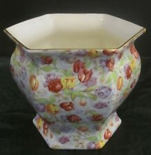 Royal Winton Grimwades 'Stratford' (Later) Chintz Hexagonal Planter /Jardiniere