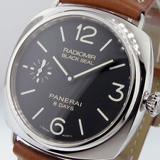 UNWORN PANERAI PAM 609 RADIOMIR BLACK SEAL LUMINOR 45 mm 8 DAY ACCIAIO PAM00609