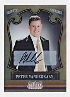 2011 Americana Private Signings #81 Peter Vanderkaay Swimming Autograph 023/199