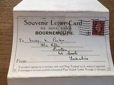 Set 6 Sepia Views Photographs Postcard Letter Card Bournemouth Dorset 1930s