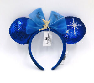 Peter Pan's Flight Ears 2021 Christmas Shanghai Tinker Bell Blue Disney Parks