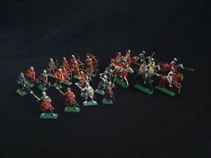 PRO- PAINTED Italeri 6027 100 Years' War English Knights and Archers 1/72  A