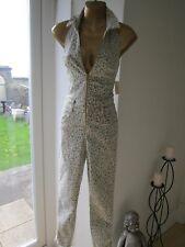 Guess BNWT NEW Size 6 Cream Floral Denim Look Top ASOS Shop Maxi Dress Jumpsuit
