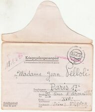 WW2: 2 Kriegsgefangenenpost cards and 1 cover to Madame Jean Pelloli, 1941-42