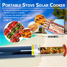 Portable Stove Solar Cooker Oven Fuel Free Cooking Camping Outdoor BBQ Grill Top