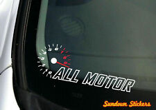 ALL MOTOR high rpm redline sticker for NA naturally aspirated, JDM cars