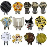26 styles Golf Ball Marker With Magnetic Hat Clip Clamp one putt,4 leaf,Fro I8E6