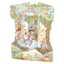 3D Swing Cards by Santoro - RABBITS ON A BOAT SWING - SG-SC-179