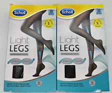Scholl Light Legs Compression Tights Pantyhose All Day Long Black 20 Denier Sz S