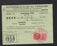 PERIGUEUX (24) AUTOMOBILE CLUB DU PERIGORD en 1950