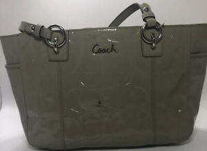 Coach handbag patent leather  outside pockets Coach Gallery  F17728
