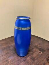 Hawkes Blue And Gold vintage Vase