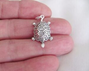 Sterling Silver Terrapin turtle charm
