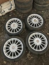 """SET OF MG ZS 17"""" ALLOY WHEELS WITH TYRES 4 STUD ZR Rover 25 45"""