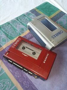 SANYO WALKMAN M4440 PERSONAL STEREO CASSETTE TAPE PLAYER VINTAGE 80's