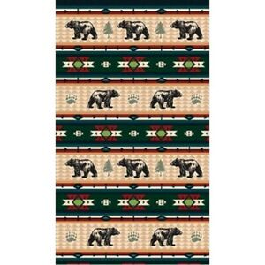 New Bear Fever Oversized Bath Beach Pool Gift Towel Black Southwest Green Gold